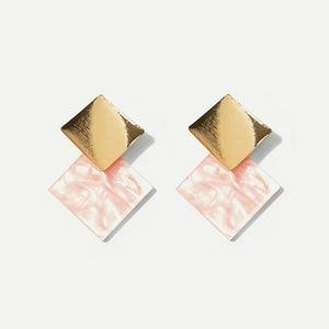 Two Toned Gold & Pink Stunning Studs